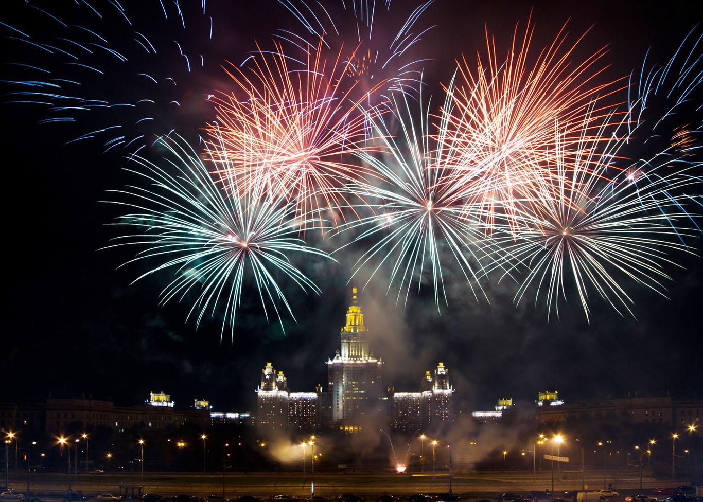 Высотные здания гостиницы «Украина» и МГУ